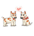 two dog lovers look into each others eyes vector image