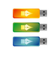 usb flash drives colored portable data storage vector image vector image