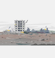 war destroyed city landscape background vector image