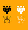 working together team concept set icon vector image vector image