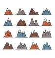 rocky mountains icon set vector image