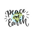 international day of peace hand lettering vector image