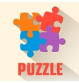 flat puzzle background concept vector image