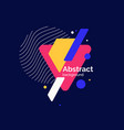 abstract geometric background the poster with the vector image