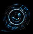 abstract tech round on a black vector image vector image