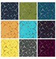 abstract triangle light seamless pattern vector image vector image