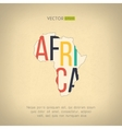 africa map in vintage design African vector image vector image