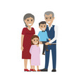 aged couple grandson with granddaughter isolated vector image