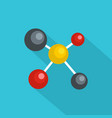 atom lattice icon flat style vector image vector image