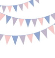 Bunting banner Rose quarts and serenity colors vector image vector image