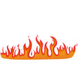 burning red and orange fire on white isolated vector image vector image