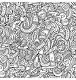 Cartoon hand-drawn doodles car style theme vector image vector image