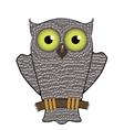Cartoon Owl Isolated on White Background vector image