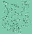 Cat dog horse rabbit rat tiger vector image vector image