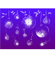 christmas white grungy ball toys set hanging on vector image