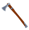 color image an ax on a white background an vector image vector image