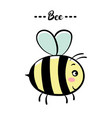 color of a bee vector image