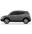 crossover car body type vector image vector image