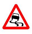 Danger skiddingtraffic sign isolated