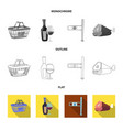 design of food and drink sign collection vector image