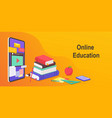 digital online education worldwide distance vector image