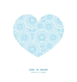 doodle circle water texture heart silhouette vector image vector image