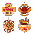 Fast Food Emblem Set vector image vector image