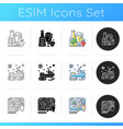 festive activities icons set vector image vector image