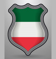 flag of italy badge and icon vector image vector image