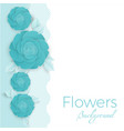 flowers background with three dimensional blue vector image vector image