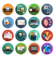 Freelance flat round icons collection vector image