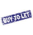 grunge buy to let framed rounded rectangle stamp vector image vector image