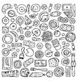 Hand drawn Breakfast set vector image vector image