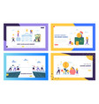 keep calm and save money landing page set vector image vector image