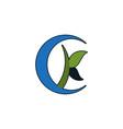 letter k logo designs inspiration vector image