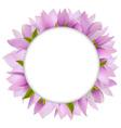 Magnolia Circular Frame vector image