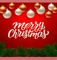 merry christmas background greeting card vector image vector image