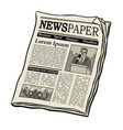 newspaper pop art vector image