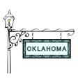 Oklahoma retro pointer lamppost vector image vector image