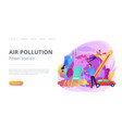 power station and air pollution landing page vector image vector image