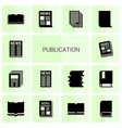 publication icons vector image vector image