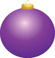 Purple Ball Ornament vector image vector image