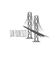 San Francisco-Oakland Bay Bridge vector image