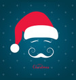 santa claus with a beautiful mustache vector image vector image
