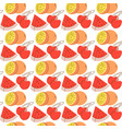 seamless pattern with fruit background element vector image