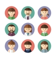set avatar icons vector image vector image