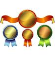 set metallic awards vector image vector image