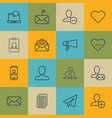 set of 16 social icons includes remove user vector image vector image