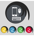 smartphone widescreen monitor keyboard mouse sign vector image vector image