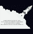 space shuttle flat style launching the satellite vector image vector image
